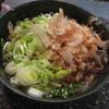 今庄そば - 料理写真:天ぷらそば ねぎ・かつお多め 400円 (2017.12)