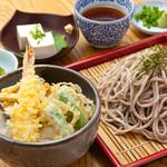 華花 - 選べるミニ丼ぶりと生蕎麦