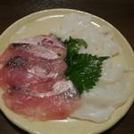 78509175 - 2017年11月:A5仙台牛&プラチナポークコース(\8500)…水たこと甘鯛のカルパッチョ