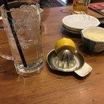 元祖やきとり串八珍 - 生レモンサワー 746円