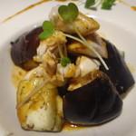 みっきー食堂 - 蒸し茄子と鶏ささみの怪味ソース