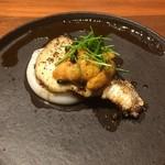 78513909 - 鰆、ウニ、海老芋のペースト