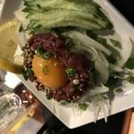 三日月 - 料理写真:極上‼︎桜肉ユッケ‼︎