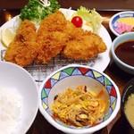 大正亭 - チキンカツ定食・ご飯小盛で1030円(基本の1080円から50円引き)