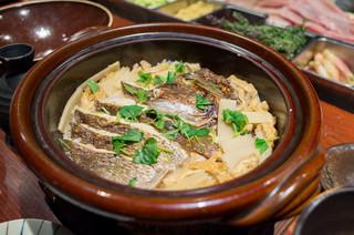えびす鯛 新潟駅前店 - 真鯛の釜戸炊き土鍋ご飯