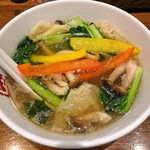 七宝 麻辣湯 - 麻辣湯 (0辛)+強壮白湯
