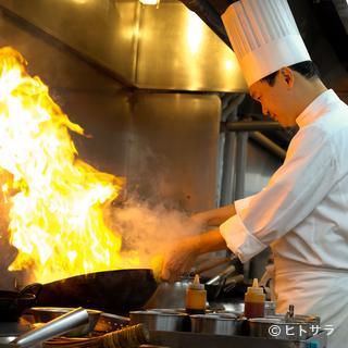 中国の伝統と斬新な技法が融合した、シェフならではの広東料理