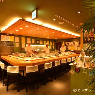 洗練された寿司カウンターでしっとりとした大人のデート