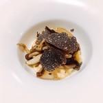 78519769 - 七国峠の玉子のウッフブイェ トリュフの香り セップ茸の泡