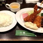 グリル一平 - ミックスフライ定食