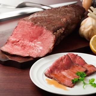ディナー限定ローストビーフ食べ放題