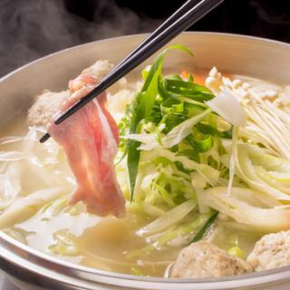 名古屋コーチンのコラーゲンたっぷりのスープで『しゃぶしゃぶ』