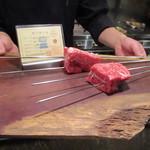 78544614 - 注文したお肉を確認
