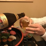 海鮮問屋 吾作どん - いい感じ꒰ ´͈ω`͈꒱瓶ビール飲み放題!