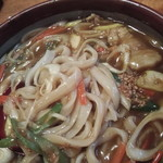 むぎきり - カレーうどん・麺クローズアップ