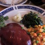 ステーキハウス 三喜屋 - 料理写真:ハンバーグ定食