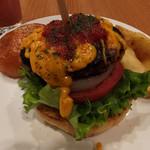 BURGERS CAFE GRILL FUKUYOSHI - チェダーチーズバーガー1242円