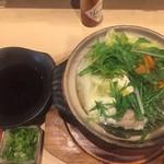 晴 - 鶏の水炊き鍋 ポン酢,薬味