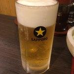 黒かつ亭 - 生ビール中480円税抜