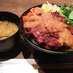 裏なんば 焼肉 富士晃 - おさまるハラミステーキ丼  850円