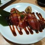 Hidentebasakiagetohonkakukushiyakisemmontentorishin - 合鴨の炙りたたき