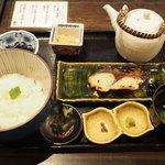 京の茶漬け 中目黒 魚とく - 西京焼きの茶漬け定食