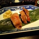 鉄板焼 すみだ - 牛肉焼焼き寿司