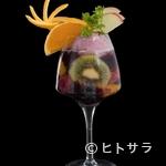 カフェ アンノン - お酒を飲んだ後の締めにもおすすめ。18時以降から注文できる夜パフェ『赤ワインNON』