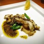 78566396 - アワビとツブ貝の肝バターソース