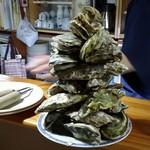 78566427 - サロマ湖産の真牡蠣、がんがん焼き(蒸し) これで一人前