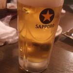だんまや水産 - 生ビール(2017.12.14)