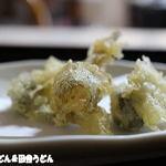 田舎うどん てつ - クワイの天ぷら