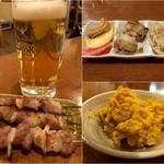 いずみ亭 - 生ビール&豚串/お通し/かぼちゃサラダ