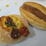ぽるとがる - 料理写真:ハッシュドビーフ、上州牛コロッケパン