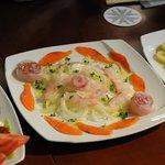 レストラン Tera - パーティ料理 本マスのルイベと黒ゾイの紅白マリネ