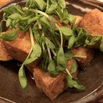 島の食べものや南風 - 島豆腐のにんにく醤油