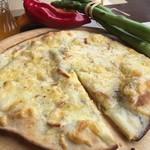 A DAY~こころの灯り家~ - 【クワトロ】ゴルゴンゾーラ、スモーク、モッツァレラ、パルメザンの4種類のチーズをふんだんに使ったピッツァ!
