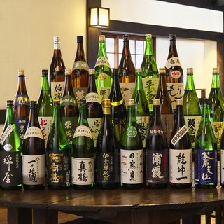 宮城の地酒を豊富に取り揃えております