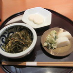 玄挽蕎麦 NAGARA - 「晩酌セット」のお通し3品