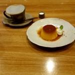 カフェ大好き - かぼちゃプリン&ブレンドコーヒー