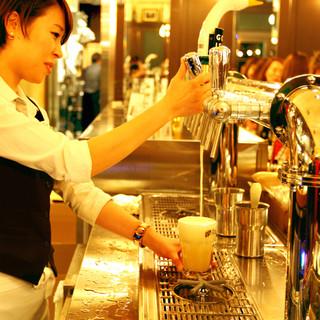ドラフトマスター日本チャンピオンが注ぐ樽生ビールは格別!