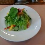 イタリアンハウス パスタ - サラダはタップリと盛られています