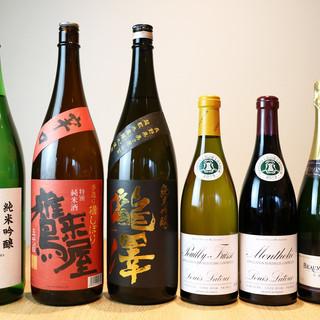 【お寿司に合うお酒も多数ご用意】