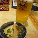 海鮮処寿し常 - 【2011.05. 再訪】 生ビールとお通し