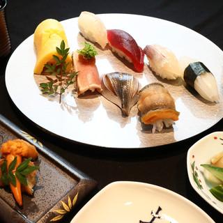 昼がお得!ディナー単価15,000円の寿司が2,000円~
