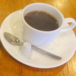 cafe SAWAYA - ホットコーヒー350円、モーニングトーストサンド+50円