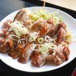 お食事処 浜 - 黒胡椒地鶏焼き定食 ¥630