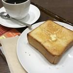 78594067 - モーニングの厚切りバタートースト
