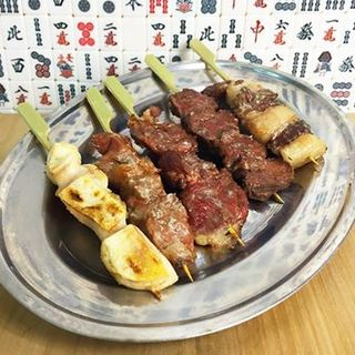 名物「炭火獣串焼き」色々な種類の肉をお試しいただけます◎