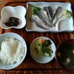 男鹿海鮮料理 三代目ほたる - 青なまはげ定食500円